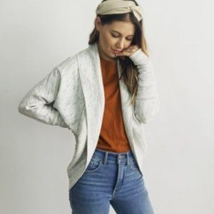 Wilfred Marled Gray Cocoon Cardigan